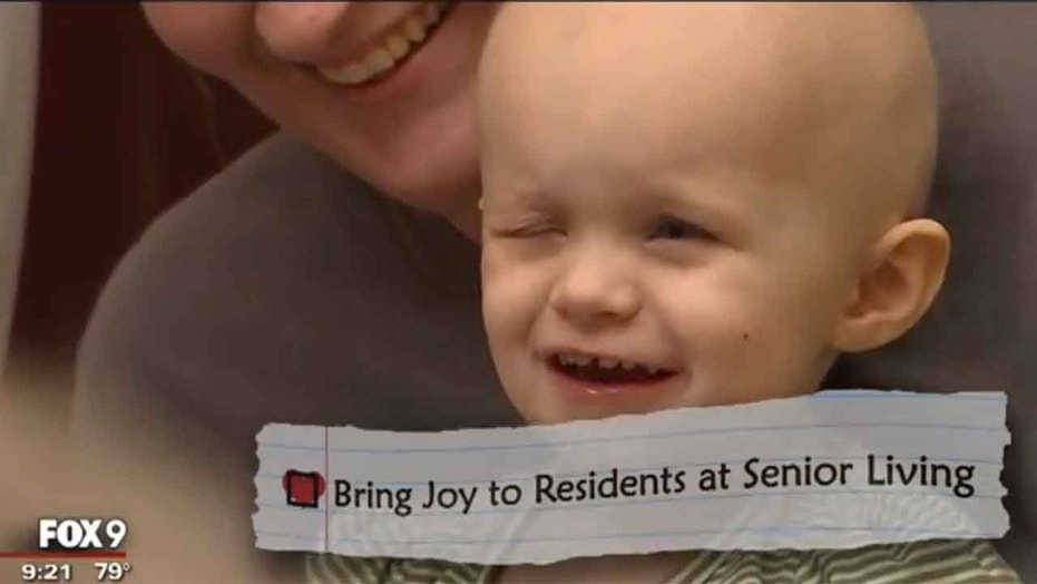 One of the items on Marlee's bucket list was bringing joy to a senior center.