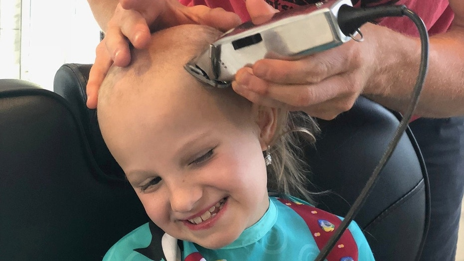 Briel said her classmates would tease her about the bald spots and asked her mother if she could shave all of her hair off last week.