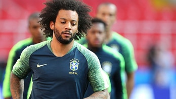 MOSCOU, MO - 26.06.2018: TRAINING OF THE BRAZILIAN TEAM IN MOSCOW - Marcelo during the training of the Brazilian National Team at the Spartak Stadium in Moscow, Russia. (Photo: Rodolfo Buhrer/La Imagem/Fotoarena/Sipa USA)(Sipa via AP Images)
