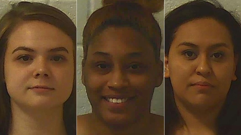 Jorden Lanah Bruce, Mya Janai Moss and Lizeth Jocelyn Cervantes Ramirez were all charged with exploiting an elderly and disabled person.