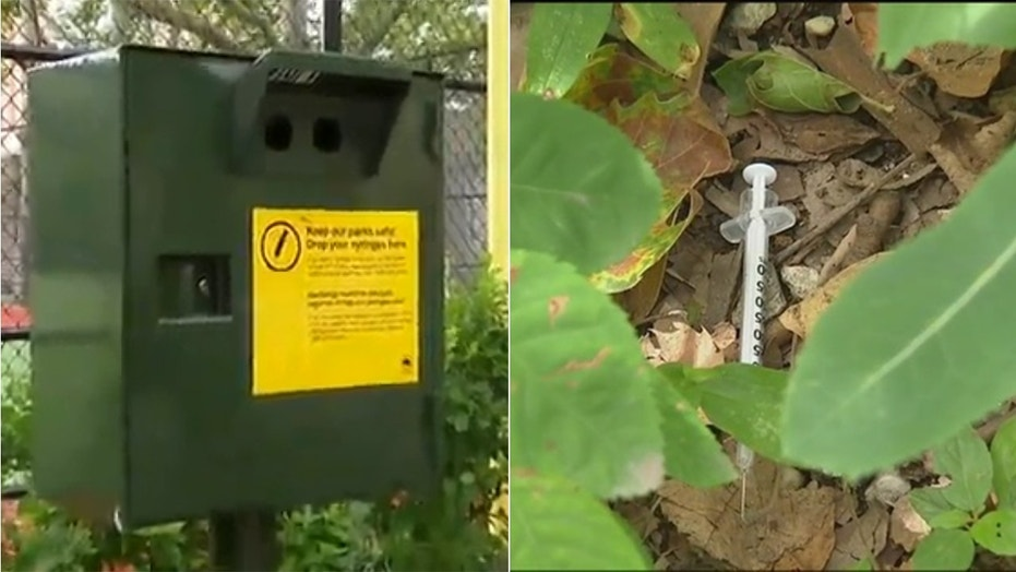 Concerned residents say the boxes send out mixed messages about drug use.