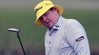 FILE - In this April 23, 2015 file photo, Jarrod Lyle, of Australia, reacts after missing a putt on the 17th hole during the first round of the Zurich Classic PGA golf tournament in Avondale, La. Jarrod Lyle has opted not to seek further treatment in his long fight against leukemia and will receive palliative care at home, his family has announced. (AP Photo/Butch Dill, File)