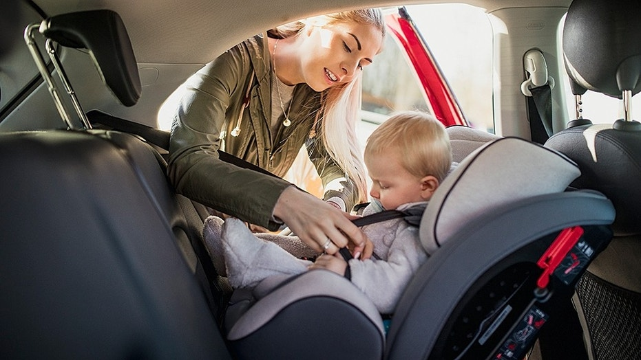 Children should stay on a rear-facing car seat for