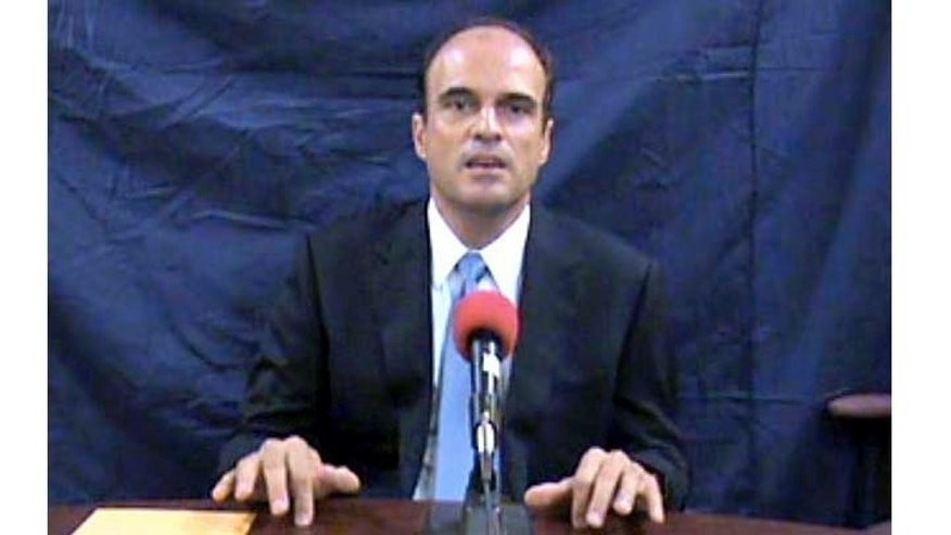 In this image taken from an undated videotape provided by El Periodico de Guatemala, Lawyer Rodrigo Rosenberg, who was slain by gunmen in Guatemala City, May 10, 2009, alleges that Guatemala's President Alvaro Colom wanted him killed. (AP Photo/El Periodico de Guatemala)