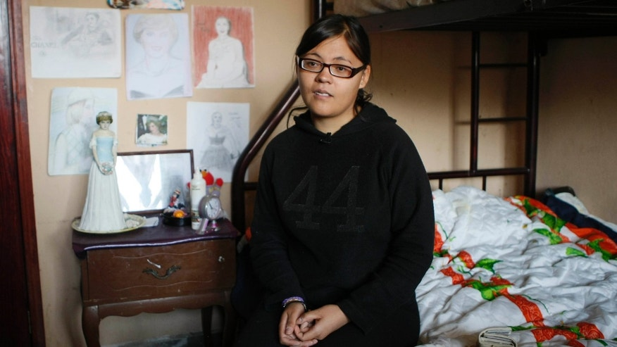 Estibalis Chavez, 19, talks during an interview with The Associated Press at her home in Mexico City, Wednesday, April 20, 2011. Chavez, who performed a 16-day hunger strike outside the British Embassy in Mexico City pursuing an invitation to UK's Prince William and Kate Middleton's royal wedding, will travel Thursday to England after she was given an air ticket by a man who walked past her while on strike. (AP Photo/Gerardo Carrillo)
