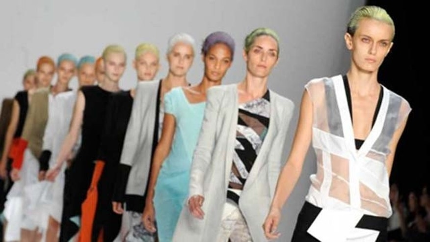 Sept. 13, 2011: The Narciso Rodríguez Spring 2012 collection is modeled during Fashion Week, Tuesday in New York.