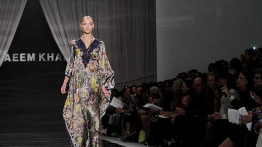 Sept. 15: The Naeem Khan Spring 2012 collection is modeled during Fashion Week in New York.