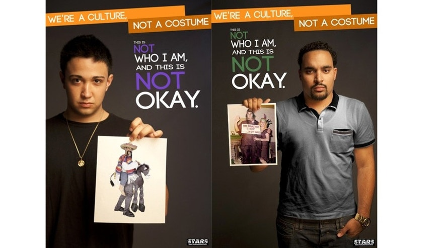 "Some of the the posters from Ohio University's STARS' ""We're a Culture Not a Costume Campaign"" ad campaign."
