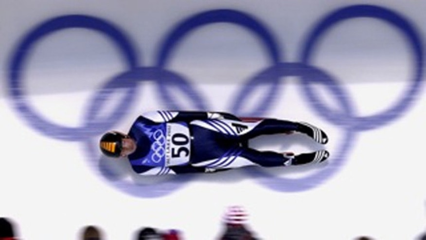 Rubén González competing in the Salt Lake City Olympics in 2002.