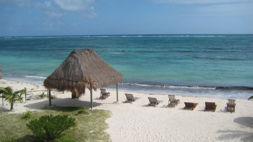 This December 2011 photo shows the beach at the Mayan Garden Inn near Majahual in Costa Maya, Mexico. This region of Mexico is located on the coast of the Western Caribbean, south of Cancun and the Riviera Maya. (AP Photo/Kim Curtis)