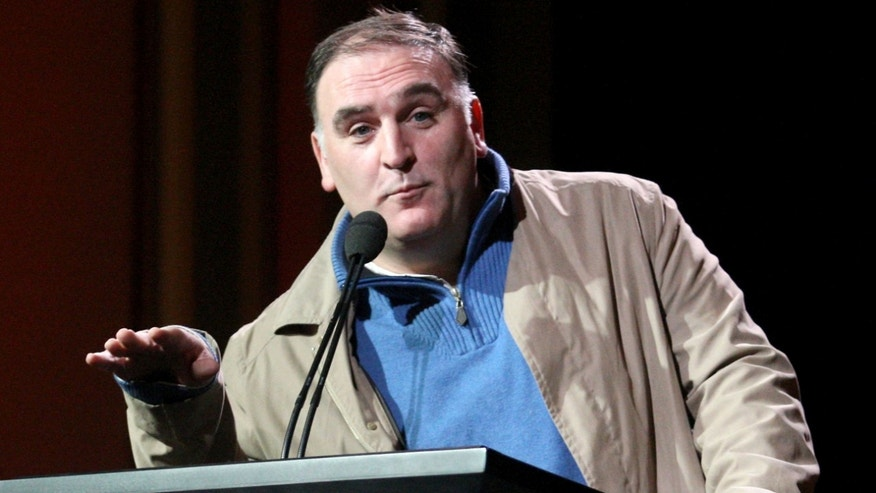 PASADENA, CA - JANUARY 08:  Chef Jose Andres speaks during the 'Made In Spain' panel at the PBS portion of the 2011 Winter TCA press tour held at the Langham Hotel on January 8, 2011 in Pasadena, California.  (Photo by Frederick M. Brown/Getty Images) *** Local Caption *** Jose Andres