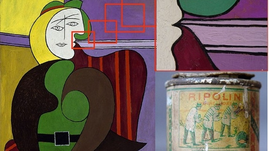 Picasso's The Red Armchair is the most emblematic of his Ripolin usage.
