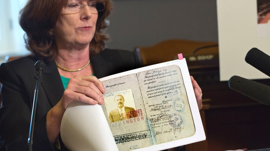 A copy of Hemingway's passport.