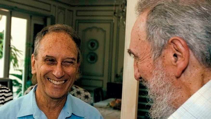 In an undated photo, Harry Belafonte, Shari Belafonte and Saul Landau, center, laugh with Fidel Castro.