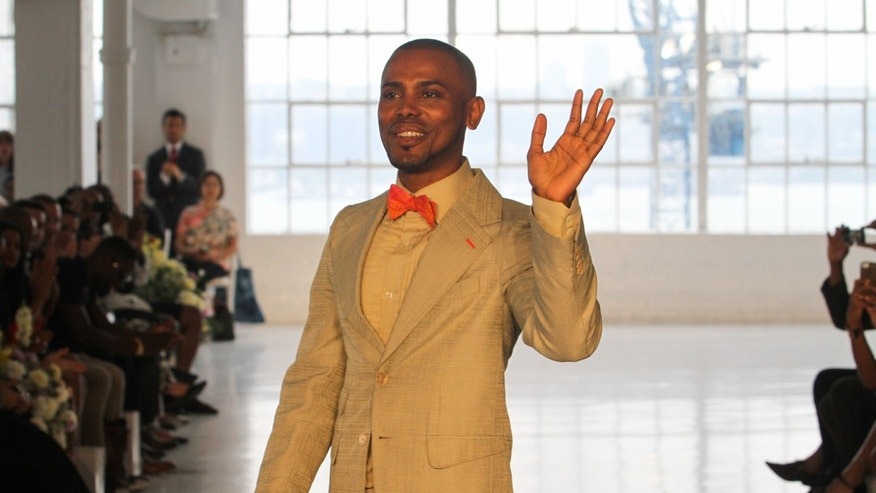 Designer Edwing D'Angelo at the 2013 New York Fashion Week.