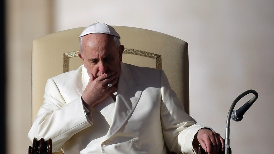Pope Francis in his weekly general audience in St. Peter's Square at the Vatican, Wednesday, Dec. 4, 2013.