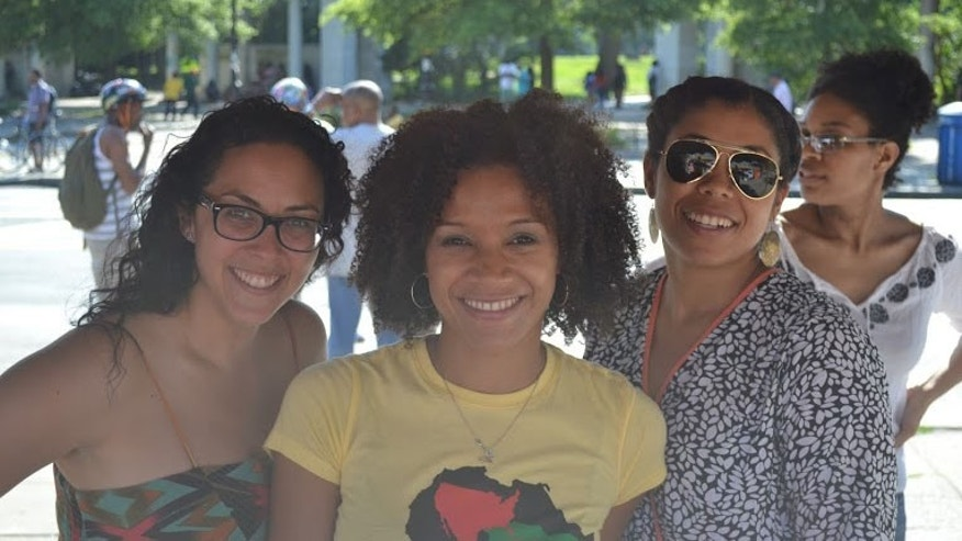 From left to right: Daphnie Sicre, Melissa M. Valle and Yamila Sterling (Photo Melissa M. Valle)