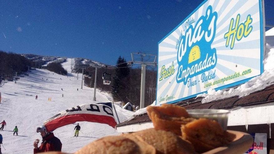 Slopeside empanadas in Killington, Vt.