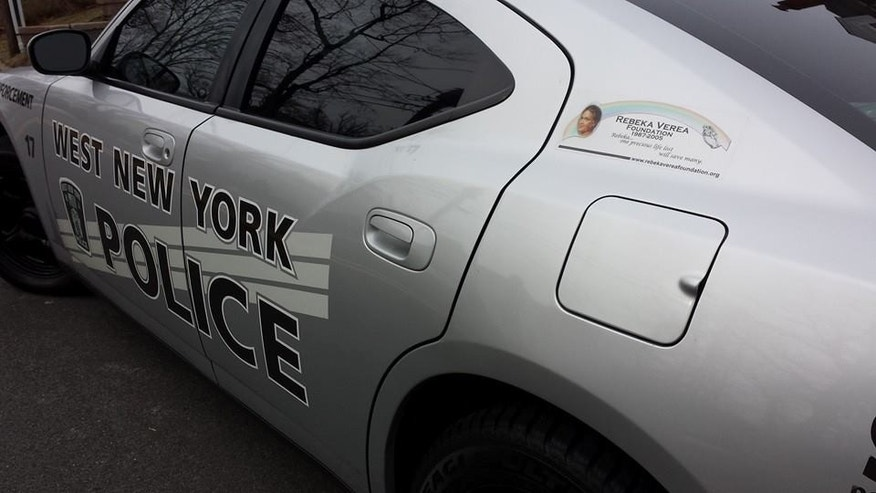 West New York (NJ) police car that has speed radar and is dedicated to Rebeka Verea