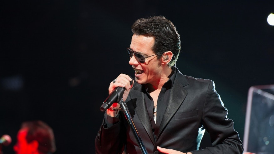 Singer Marc Anthony performs at Barclay's Center on February 15, 2014 in the Brooklyn borough of New York City.