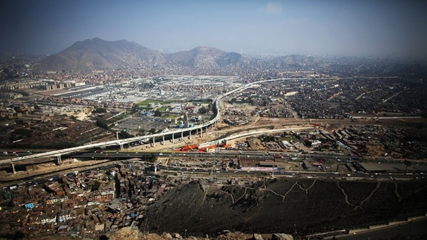 An aerial view of the city from a hilltop on November 12, 2013 in Lima, Peru.(Photo by Mario Tama/Getty Images)