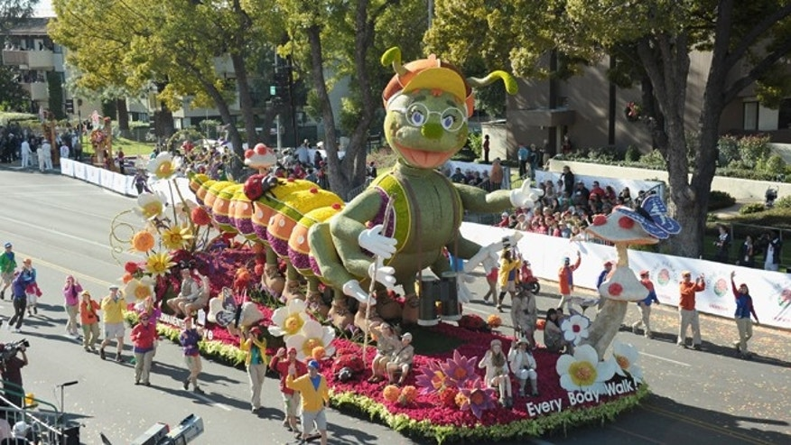PASADENA, CA - JANUARY 02:  The Kaiser Permanente float participates in the 123rd Annual Rose Parade on January 2, 2012 in Pasadena, California.  (Photo by Alberto E. Rodriguez/Getty Images)
