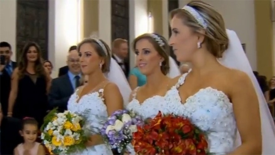 The Bini brides. (Photo: Globo via YouTube)