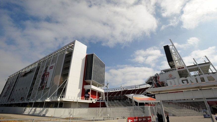 SANTA CLARA, CA - AUGUST 17:  A general view from outside Levi's Stadium before the San Francisco 49ers play against the Denver Broncos on August 17, 2014 in Santa Clara, California.  (Photo by Noah Graham/Getty Images)