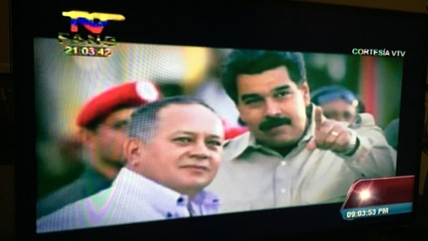Chávez stars in a number of music videos. In this image from Daniella Cabello´s last song, the late Venezuelan president is shown with her father, the head of the congress.