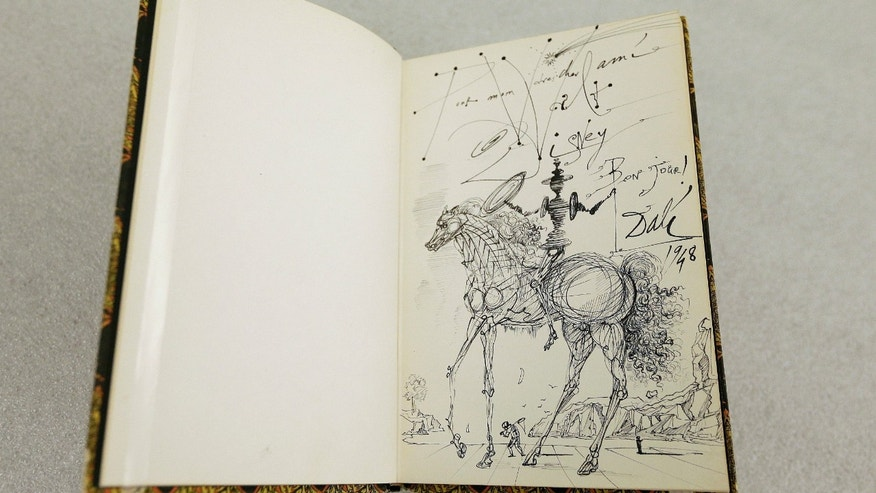 A 1957 drawing of Don Quixote by Salvador Dali for Walt Disney.