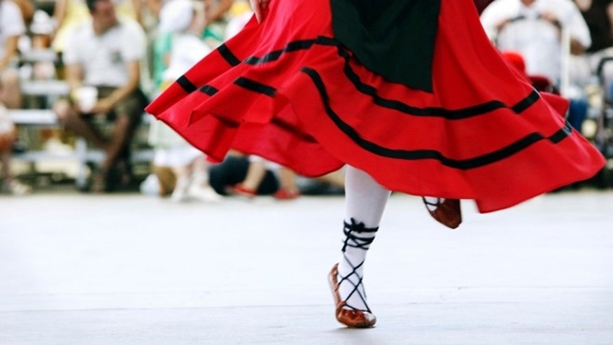 A dancer performs at the Jaialdi Boise 2010 Basque event in Boise, Idaho. One of the largest Basque communities in the United States will spend the next five days celebrating the traditional Jaialdi festival in southwestern Idaho. An estimated 35,000 to 50,000 people are expected to attend the event. (AP Photo/Idaho Statesman, Darin Oswald, File)