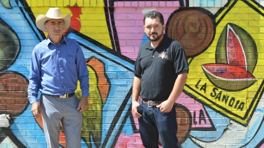 Silverio (left) and Antonio López of Tequila Cabresto. (Photo: Bianca Garcia/Fox News Latino)
