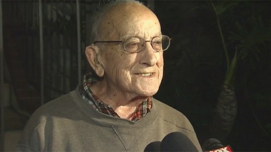 94-year-old World War II veteran, Herman Perry. (Image: Fox 11 Los Angeles)