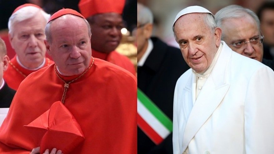 Cardinal Christoph Schoenborn (left) and Pope Francis. (Photos: Getty Images)