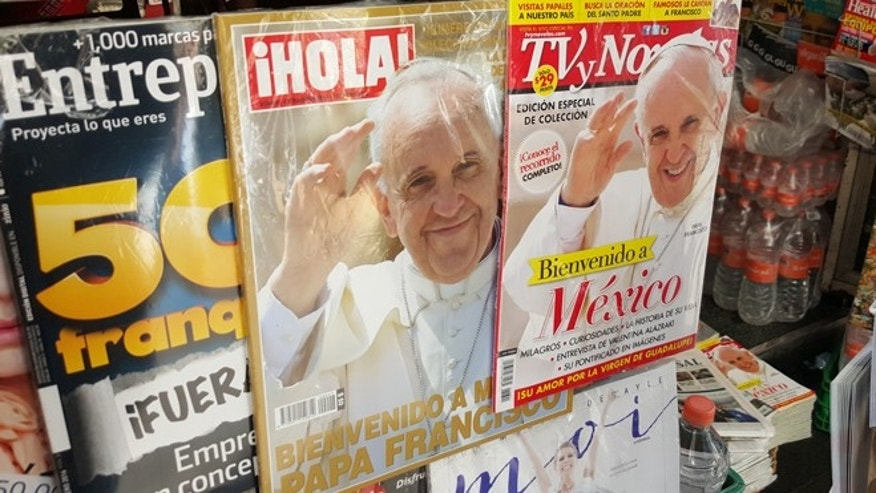 A Mexico City newsstand before the pope's visit. (Jan-Albert Hootsen/Fox News Latino)