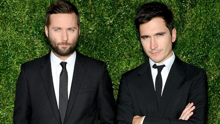 NEW YORK, NY - NOVEMBER 02: Designers Jack McCollough (L) and Lazaro Hernandez of Proenza Schouler attend the 12th annual CFDA/Vogue Fashion Fund Awards at Spring Studios on November 2, 2015 in New York City.  (Photo by Andrew Toth/Getty Images)