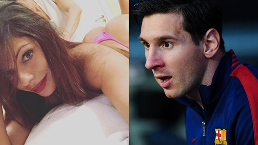 Suzy Cortez, the 2015 Miss BumBum contest winner, and Lionel Messi. (Photos: Cortez, Instagram; Messi, Getty Images)