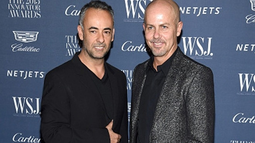 NEW YORK, NY - NOVEMBER 04:  Designers Francisco Costa (L) and Italo Zucchelli attend the WSJ. Magazine 2015 Innovator Awards at the Museum of Modern Art on November 4, 2015 in New York City.  (Photo by Dimitrios Kambouris/Getty Images for WSJ. Magazine 2015 Innovator Awards)