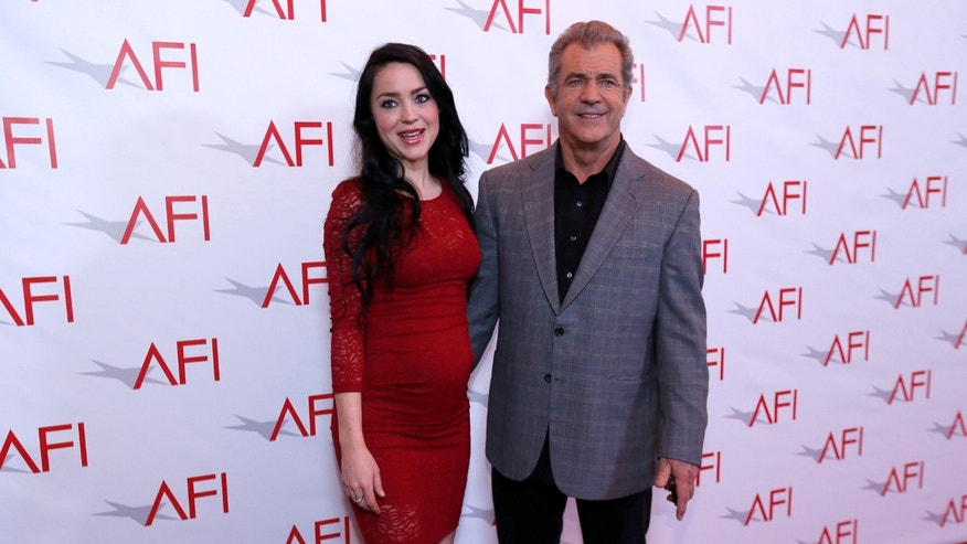 Actor Mel Gibson and partner Rosalind Ross pose at the American Film Institute Awards in Los Angeles, California, on Jan. 6, 2017. Gibson, who is 61, is 35 years older than his partner Rosalind Ross, who is 26.