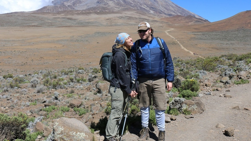 Jo Piazza and Nick Aster in Tanzania.