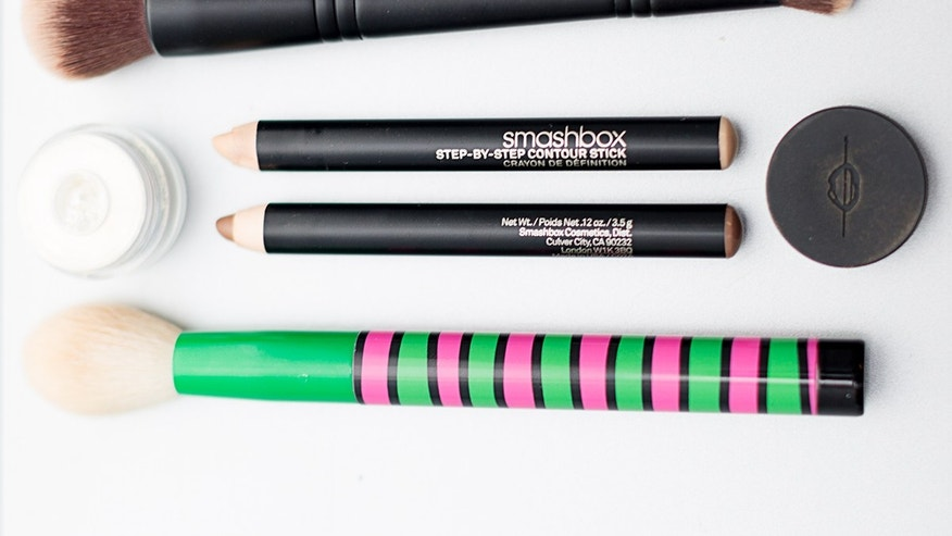 Sephora Collection Classic Double Ended Multitasker & Concealer #202 Brush, $28; Makeup Forever Starlit Powder, $21; Smashbox Step-By-Step Contour Kit Trio, $45; Sonia Kashuk Tapered Blending Brush, from the 4-piece Pop Art set, $21