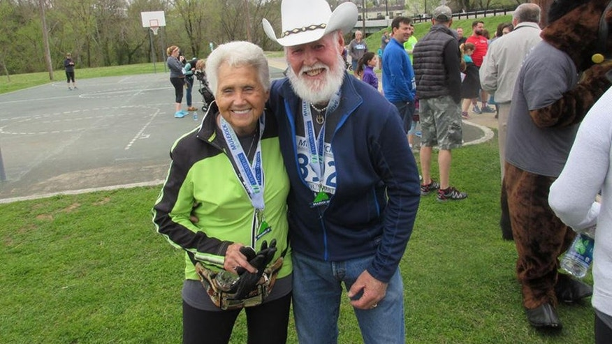 Margaret and J.R. Vaughn at the Mule Kick 5K.
