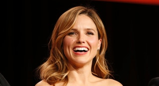 "Actor Sophia Bush speaks about the NBC television show ""Chicago Fire""/""Chicago P.D."" during the TCA presentations in Pasadena, California, January 16, 2015. REUTERS/Lucy Nicholson   (UNITED STATES - Tags: ENTERTAINMENT) - RTR4LRGM"