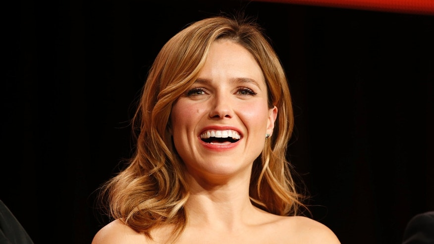"Actor Sophia Bush speaks about the NBC television show ""Chicago Fire""/""Chicago P.D."" during the TCA presentations in Pasadena, California, January 16, 2015."