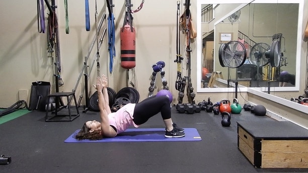 glute bridge with squeeze