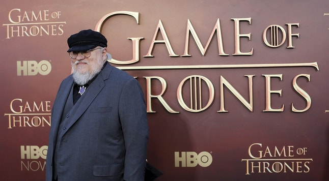 "Co-executive producer George R.R. Martin arrives for the season premiere of HBO's ""Game of Thrones"" in San Francisco, California March 23, 2015. REUTERS/Robert Galbraith/File Photo - RTSLWDI"