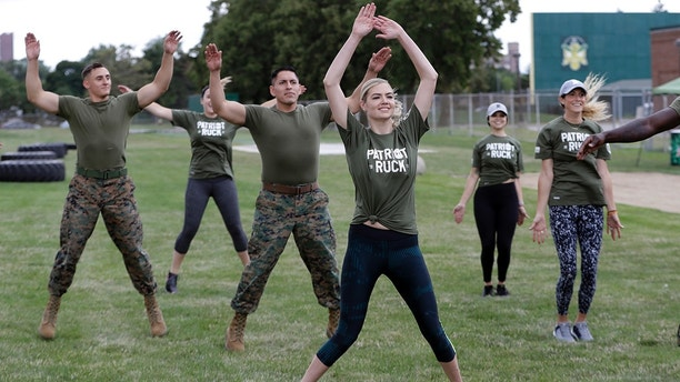 Model and actress Kate Upton takes part in a Swimsuit model Kate Upton endures grueling Marines workout to raise awareness Swimsuit model Kate Upton endures grueling Marines workout to raise awareness 1503445541319