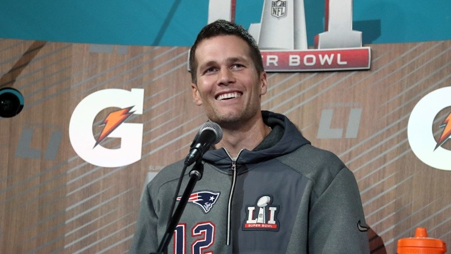 Tom Brady has a unusual way of stopping sunburns