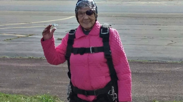 Great-grandmother celebrates 94th birthday with skydiving