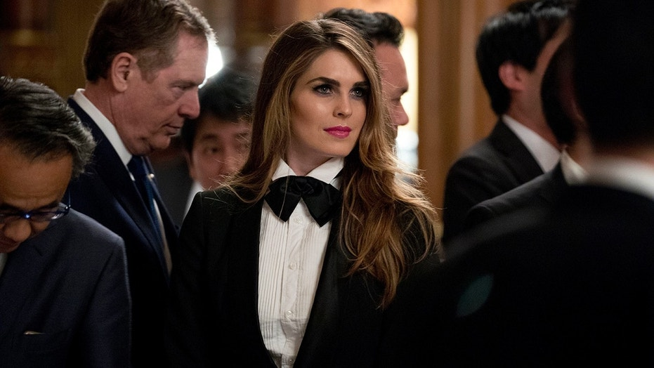 White house 39 s hope hicks wore a tuxedo to japan state for The tuxedo house